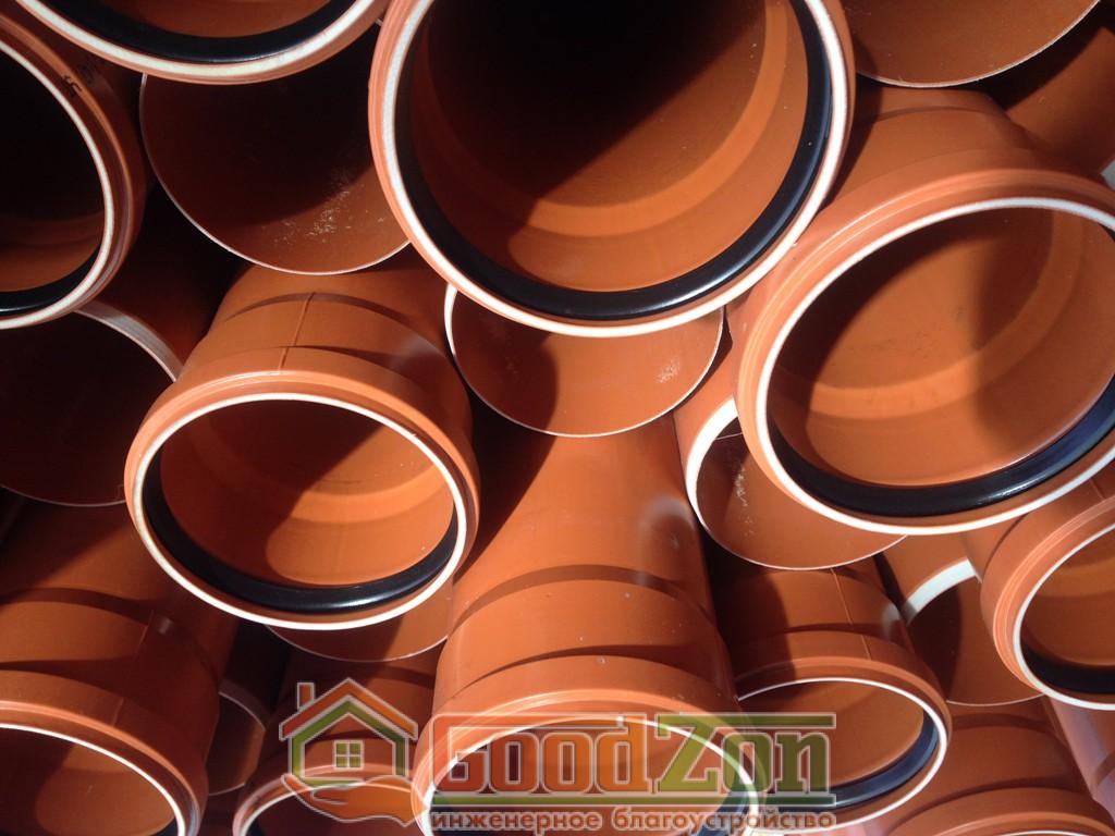 Пластиковые трубы для наружной канализации 400