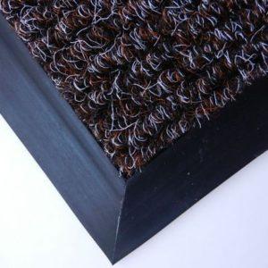 Входной ковер Поляна черный с сединой